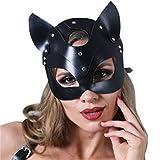 Máscara de Fiesta, Máscara de Gato de Cuero Sexy, Máscara Veneciana de Estilo Clásico, Máscara de Mascarada de Mujer Vintage, Máscara de Media Cara, Máscara de Halloween, Máscara de Fiesta de Carnaval