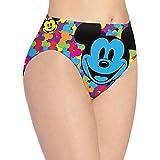 Apojdsn Cartoon Mickey Mouse - Calzoncillos para mujer, transpirables, cómodos, elásticos, suaves, bragas