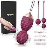 Maksexy Bolas Chinas, 3 Pesas para Ejercicios Kegel -12 Modos para Kegel Ejercitador Kegel Bolas para Mujer (Rosa)