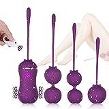 Fove Kegel Balls para Mujer con Control Remoto,Kegel Bolas con 10 Modos de Frecuencia, Silicona Suave, Impermeable y Carga USB.