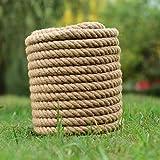 THQC Cuerda de cáñamo Natural de 16 mm de la Cuerda Gruesa de la Cuerda Gruesa de la Cuerda para la jardinería Que acampa la decoración de Camping (Color : 16MMx50Meters)