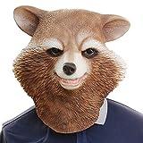 XIAOMAN Máscara de cabeza de mapache Máscara de látex realista Cosplay de Halloween Fiesta de Navidad Juego de rol Juguetes (Color : Brown, Size : One size)