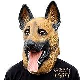 CreepyParty Máscara de Cabeza Animal de Látex de Fiesta de Halloween de Perros Pastor Aleman Máscara de Carnaval
