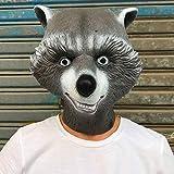 IHZ Guardianes de la Galaxia 2 máscara de Mapache Cohete, Sombrero de Oso Negro ártico, Accesorios de Cosplay