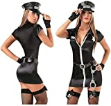 MEIGUI Ropa de sexo para mujer, disfraz de policía, disfraz sexy de policía, para Halloween, para policía, uniforme de policía, disfraz de cosplay, disfraz sexy de policía, color negro