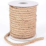 HOMYHOME Cuerda cáñamo 10mm 98.5ft Natural Rollo de Cordel Yute para Cord Craft Industrial Embalaje artesanía decoración confección jardinería hogar