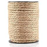 35M Cuerda de Yute Gruesa Cuerda cáñamo 4 mm,Natural Rollo de Cordel Yute para Embalaje,Decoración,Jardinería