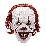arthomer Máscara de Halloween Cosplay Traje de látex de Miedo Realista Mascarilla Apoyo del Partido